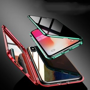 The Armour Privacy Front Glass Magnetic Metal Case For iPhone