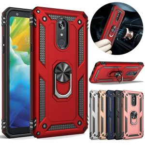 Dual Layer Armor Case With Magnetic Ring For LG Stylo 5 Case